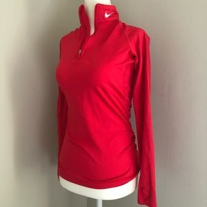 Hot Pink Therma Fit Quarter Zip Pull over